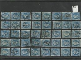 Plaquette De 40 Numéros 22  Lot 7 - 1862 Napoléon III