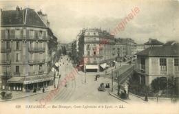 38.  GRENOBLE .  Rue Béranger . Cours Lafontaine Et Le Lycée . - Grenoble
