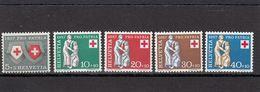 Suisse - Année 1957 - Neuf**  - Pro Patria - N°Zumstein 81/85** - Ecussons Et Symbole De La Charité - Neufs