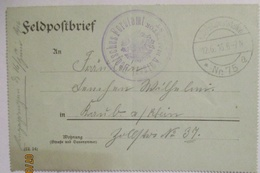 Polen Bialystok Kaiserlich Deutsches Forstamt Feldpost 1916 (14358) - Guerre 1914-18
