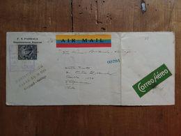 ECUADOR - Lettera Viaggiata Per Via Aerea Nel 1929 - Con Annulli Retro + Spese Postali - Ecuador