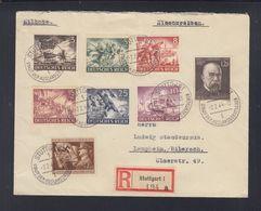 Dt. Reich R-Brief 1944 Stuttgart Nach Laupheim - Cartas