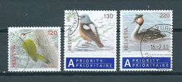 2008 Switserland Complete Set Birds,oiseaux,vögel Used/gebruikt/oblitere - Suisse