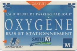 Montpellier : Carte PIAF Oxygène : Bus Et Stationnement (Rechargeable) - Frankrijk