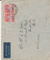 MALAYSIA 1946 GEORGE VI. B M A COVER TO UK - Malaya (British Military Administration)