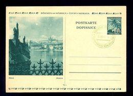 CZECHOSLOVAKIA PROTECTORATE - Illustrated Stationery With Image Of Praha. - Boemia E Moravia