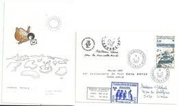 YT 112 Base Port-Marret - Voeux - Dumont D'Urville - Terre Adélie - 14/02/1987 - Briefe U. Dokumente