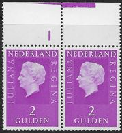 NVPH 955 - 1972 - Juliana Regina - Plaatnummer 1B - Nieuwe Cylinder - Nuovi