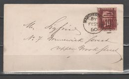 GB 1860 - 1 P. On Letter         (g6462) - Covers & Documents