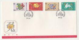 Year Of The Rabbit 1987 FDC B200610 - Hong Kong (...-1997)