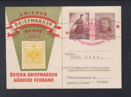 Österreich Bild-PK 1947 Wien Nach Stuttgart Zensur - Stamped Stationery