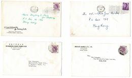 HONG KONG POSTMARKS 1951/62 - Hong Kong (...-1997)