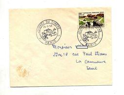 Lettre  Cachet  Oaris Journee Du Timbre 1958 Velo Voiture Moto - Postmark Collection (Covers)