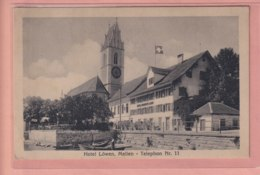 OLD POSTCARD -  SWITZERLAND -   SCHWEIZ -      ZURICH -  MEILEN - HOTEL LOEWEN - ZH Zurich