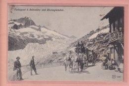 OLD POSTCARD -  SWITZERLAND -  SUISSE - FURKA POST - BELVEDERE - VS Valais