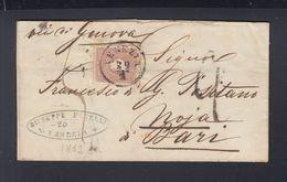 Österreich Italien Italia Brief 1862 Venezia Nach Noja Bari - Storia Postale