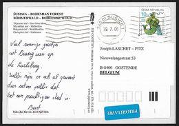 1998 - CESKA REPUBLIKA - Card - Michel 200 - Y&T 193 [Aquarius] - Lettres & Documents