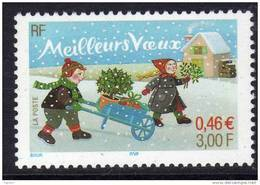France N° 3438a  XX  Meilleurs Voeux  Variété Sans Bande De Phosphore TB - Varieties: 2000-09 Mint/hinged