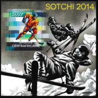 Republique Centrafricaine 2014 Sochi Olympic Games Souvenir Sheet MNH/** (H49) - Winter 2014: Sochi