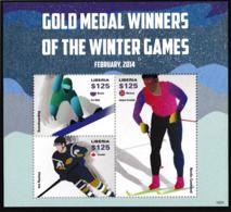 Liberia 2014 Sochi Olympic Games Souvenir Sheet MNH/** (H49) - Inverno 2014: Sotchi