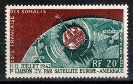 Somali Coast, French, 1963, Space, Telstar Satellite, Television Broadcast, MNH, Michel 349 - French Somali Coast (1894-1967)