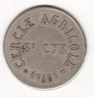Saint-Cyr-Sur-Mer (Var) - Cercle Agricole 25c - Monetary / Of Necessity