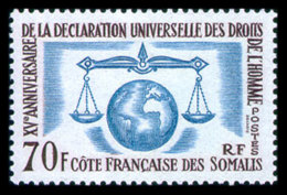 Somali Coast, French, 1963, Human Rights Declaration, United Nations, MNH, Michel 356 - French Somali Coast (1894-1967)