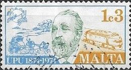 MALTA 1974 Centenary Of UPU - 1c3 Heinrich Von Stephan (founder) And Land Transport FU - Malta