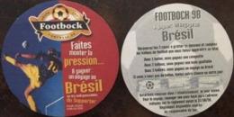 2 SOUS-BOCKs , Football 98, Grand Jeu Footbock, Voyage Au Brésil à Gagner, Football, Coupe Du Monde 1998 - Sous-bocks