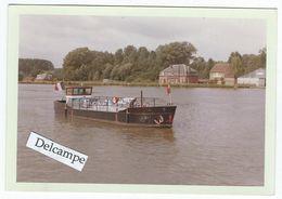 """BATELLERIE - Secteur De VALENCIENNES - Dépôt Fluvial D'Estren, Vedette """"Etoile Bleue N°2"""" - Photo 12.8 X 8.8 Cm Environ - Boats"""