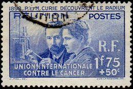 Réunion Obl. N° 155 - Pierre Et Marie Curie - Découverte Du Radium - Réunion (1852-1975)