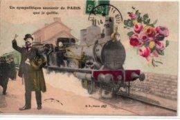 Un Sympathique Souvenir De PARIS Que Je Quitte - France