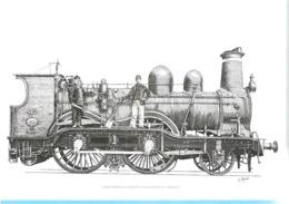 België-Belgique-2017-Gravure-La Beauté Du Train (Vapeur-Locomotive)-De Schoonheid Van De Trein-Feuillet Noir/Blanc - Zwarte/witte Blaadjes