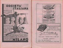 Breda/ Luxardo - Macchine Da Scrivere Littoria. Doppia Pagina - Pubblicita 1936 - Autres