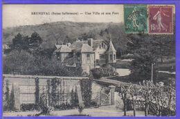 Carte Postale 76. Bruneval  Une Villa Et Son Parc  Très Beau Plan - France