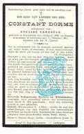 DP Constant Dorme ° Moorslede 1866 † Ledegem 1941 X Eveline Vandaele - Images Religieuses