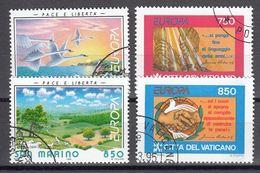 San Marino. Vaticaanstad. Europa Cept 1995 Gestempeld Fine Used - Europa-CEPT