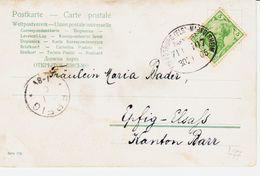 ALLEMAGNE , Convoyeur Ligne : Strasbourg, Markolsheim..  En 1905  TB - Allemagne