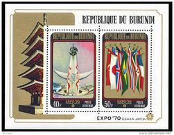 Burundi BL 0039**  Expo Osaka MNH - 1970-79: Ungebraucht