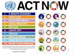 """ONU New-York 2020 - Feuille De Timbres Personnalisés """"Act Now"""" Crise Climatique Climate Crisis ** - Blocchi & Foglietti"""