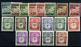 Oceanía (tasas) Nº 1/7, 9, 18/17. Año 1926/48 - Neufs