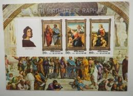 North Korea 1983 500th Birthday Of Raphael Paintings PERF Miniature Sheet Of 3v - Corea Del Nord