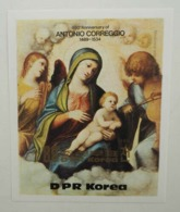 North Korea 1983 Paintings Of Antonio Correggio, Madonna With Child IMPERF Souvenir Sheet - Corea Del Nord