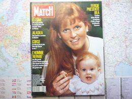 Paris Match N°2080 6 Avril 1989 Fergie Présente Bea / Eltsine / Alaska / Corse / L'homme Réparé - Testi Generali