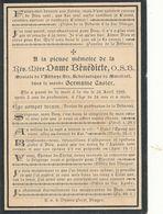 Doodsprentje  ZUSTER NON NONNE  Mere  Benedicte Abbaye De Maredret   1899     Germaine Casier Brugge - Religion & Esotérisme