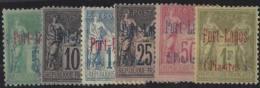 VO 583 Port Lagos Postes  N° 1 à 6 Sage 6 Valeurs (n°1 Obl) Qualité: * Cote: 663 € - Port Lagos (1893-1931)