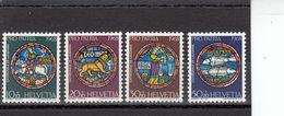 Suisse - Année 1968 - Neuf**  - Pro Patria - N°Zumstein 138/41**- Arts Et Travail Artisanal : Vitraux - Pro Patria