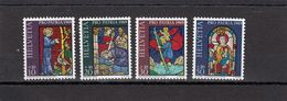 Suisse - Année 1969 - Neuf**  - Pro Patria - N°Zumstein 142/45**- Arts Et Travail Artisanal : Vitraux - Pro Patria