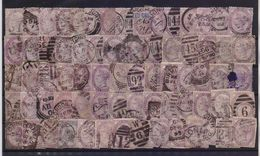ENGLAND 1881 VICTORIA ONE PENNY USED STAMPS X 75 PIECES - 1840-1901 (Victoria)