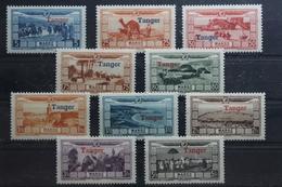 Tanger Französische Post 19-28 ** Postfrisch #UI929 - Marokko (1956-...)
